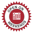 Open on Weekends & Holidays
